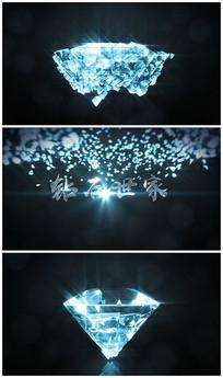 大气高端奢华钻石片头logo视频模板