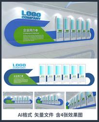 公司企业历程文化墙设计