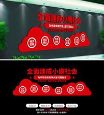 决胜全面建成小康社会宣传标语文化墙