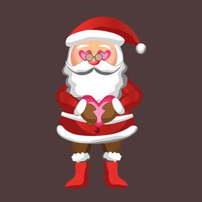 圣诞老人原创手绘图片