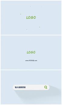网址搜索显示logo演绎片头视频模板