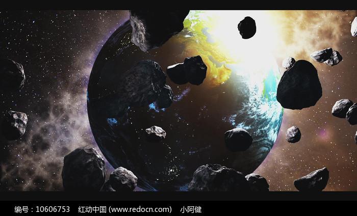 震撼浩瀚企业片头真实地球AE视频模板图片