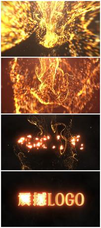 震撼唯美金色粒子展示片头视频模板视频模板