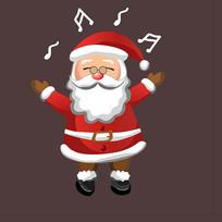 圣诞老人唱歌图片
