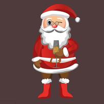 圣诞老人喝酒图片