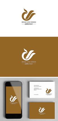 私人会所餐饮酒店凤凰标志logo设计