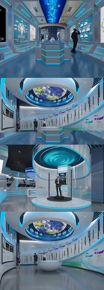 现代科技展厅3DMAX模型