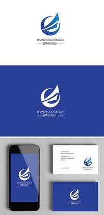 扬帆起航D字母科技IT企业标志