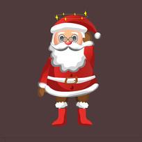 原创手绘圣诞老人图片