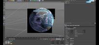 震撼大气真实地球分昼夜展示3D模型