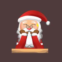 装可爱的圣诞老人图片