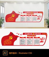 红色党建文化宣传墙