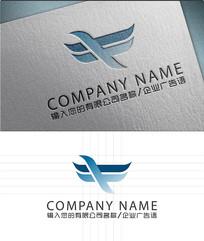 蓝鸟LOGO标志设计