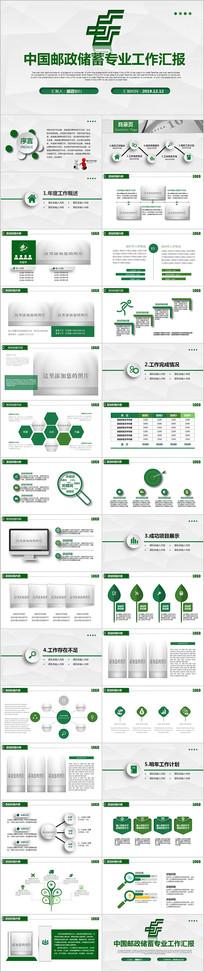 中国邮政储蓄银行邮储银行PPT模板
