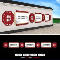 中式墙体文化长廊党建文化长廊新农村