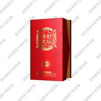 红色酒盒效果图 PSD
