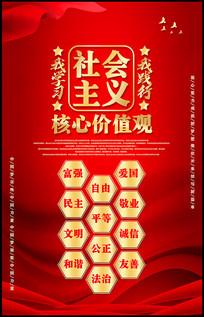 红色社会主义核心价值观展板设计