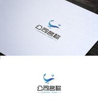 鲸鱼元素logo设计