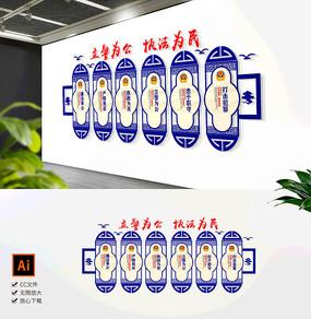 创意警务公安局交警警营文化墙展板