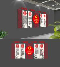 大气中式入党誓词党员活动室党建文化墙