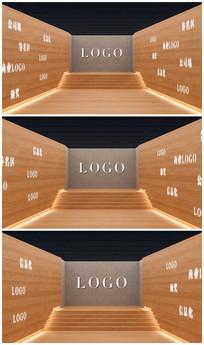 简洁墙面logo视频模板