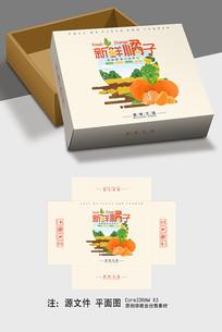 简约清爽新鲜橘子包装设计 CDR