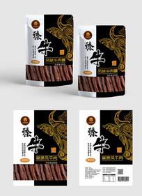 牛肉干食品包装设计 PSD