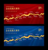 企业发展大事件企业发展历程文化墙展板