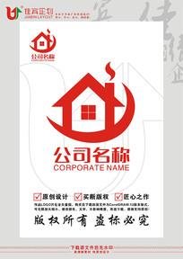 Y英文字母房子餐饮标志设计