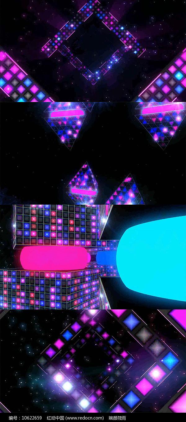 动感炫彩时尚LED背景视频AE模板图片