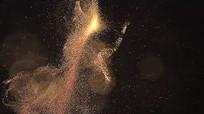 炫酷金色粒子光效视频素材 mp4