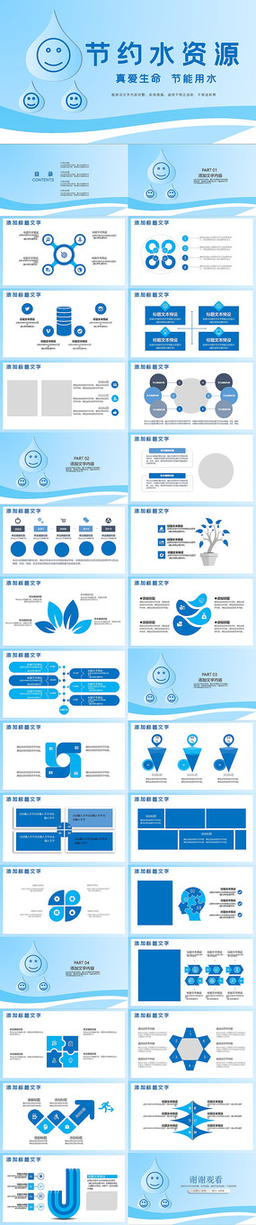 水利局节约用水水资源PPT模板