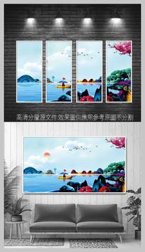 新中式意境山水挂画
