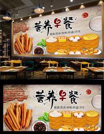 营养早餐背景墙设计