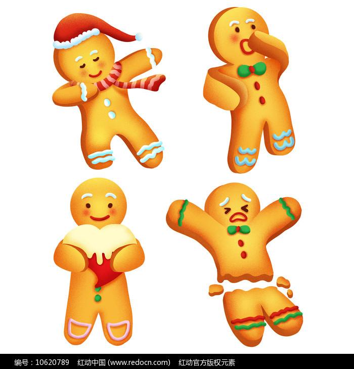 原创可爱卡通姜饼人图片