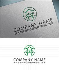 绿色森林LOGO标志设计