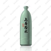 上善若水青瓷酒瓶效果图