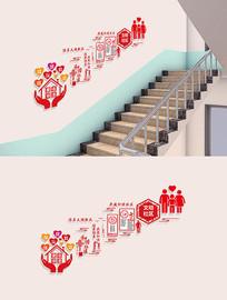社区楼梯走廊文化墙