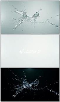 液体水爆炸LOGO片头片尾视频模板