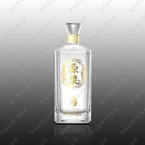 原浆酒玻瓶设计效果图 PSD
