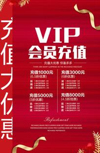 VIP美容会员充值海报设计