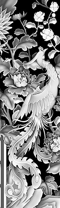凤凰于飞雕刻图