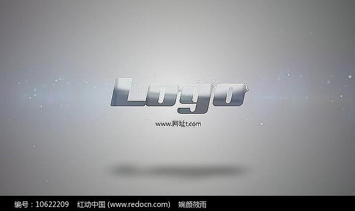简洁大气炫光文字logo展示AE视频模板图片