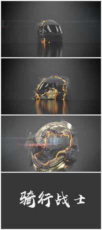 科技感头盔演绎片头logo视频模板