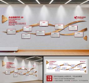 动感企业文化墙发展历程形象墙模板设计