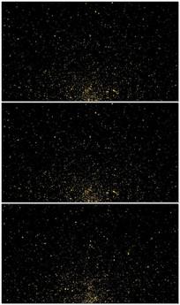 唯美金色粒子雨视频背景素材 模板