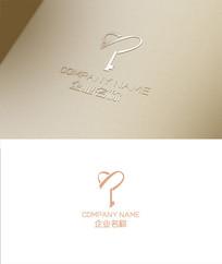 钥匙元素logo设计