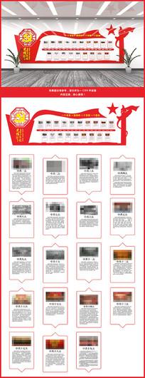 中国共产党党的光辉历程文化墙展板