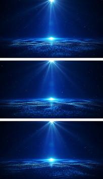 4K粒子波浪聚光灯下舞台背景视频素材