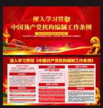 图读懂中国共产党机构编制工作条例展板